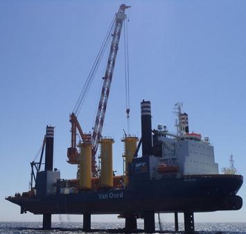 Eerste funderingspaal voor het Gemini Windpark succesvol geplaatst